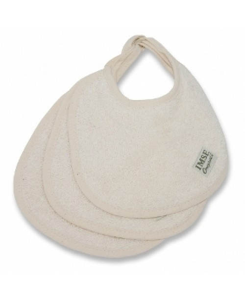 Baby Dribble Bibs (Natural), Set of 3