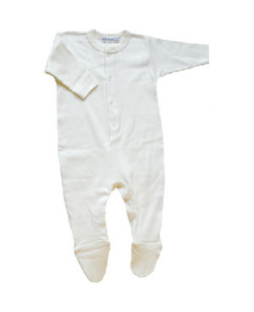 Footie, Organic Ribbed Cotton