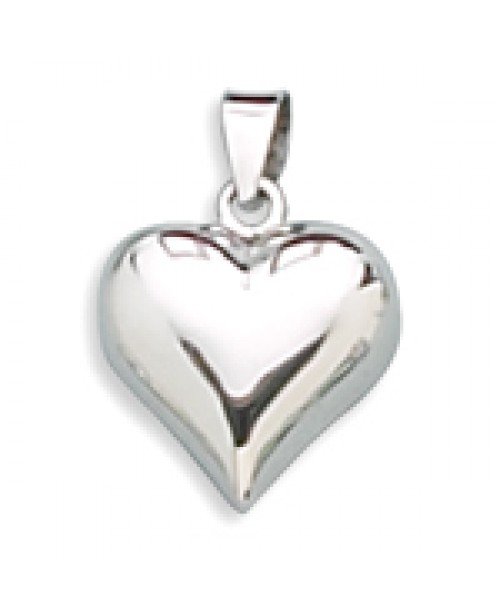 Polished Puffy Heart Pendant