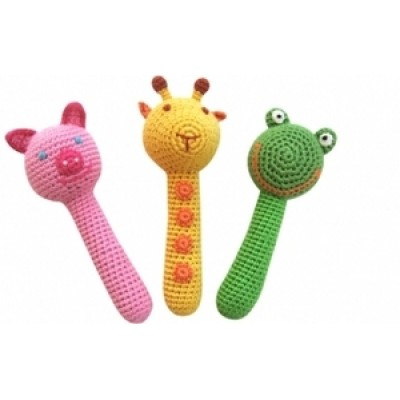 Giraffe Friends Rattles