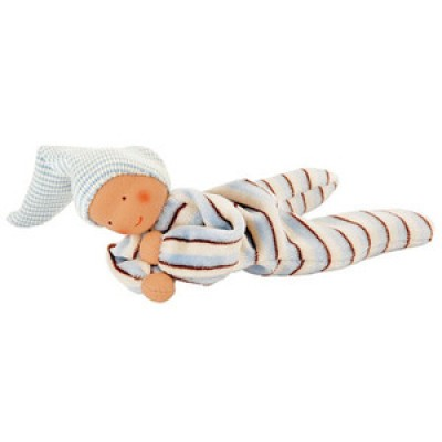 Nicki Baby Ringel Toy, Blue Stripe by Kathe Kruse