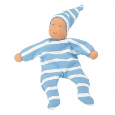 Nicki Baby Toy, Blue Stripe by Kathe Kruse