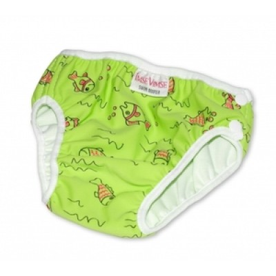 Swim Diaper, Green with Fish
