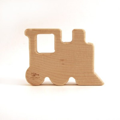 Natural Wood Teether Toy, Train