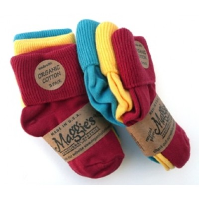 Socks, Tri Colored Cuffed Infant , 3-Pack