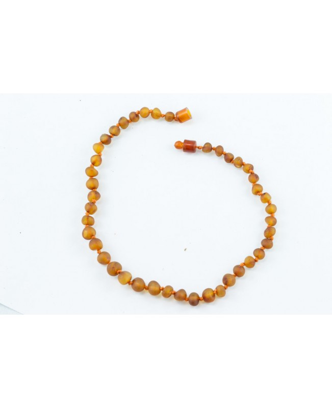 Baltic Amber Baby Necklace - Raw Cognac