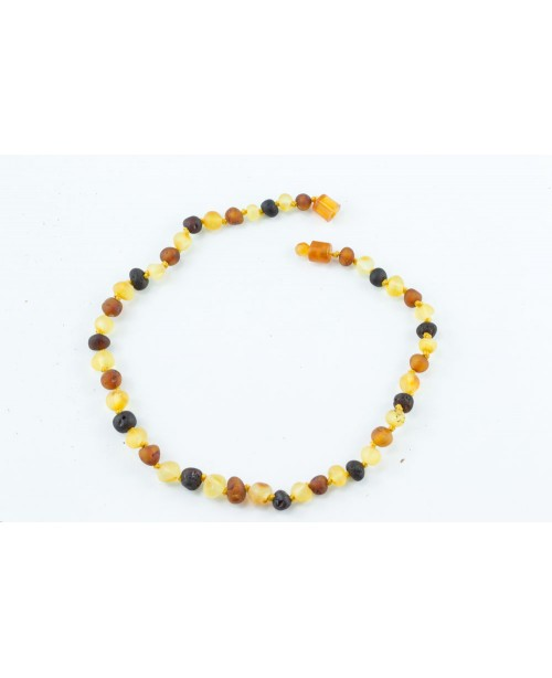 Baltic Amber Baby Necklace - Raw Multi