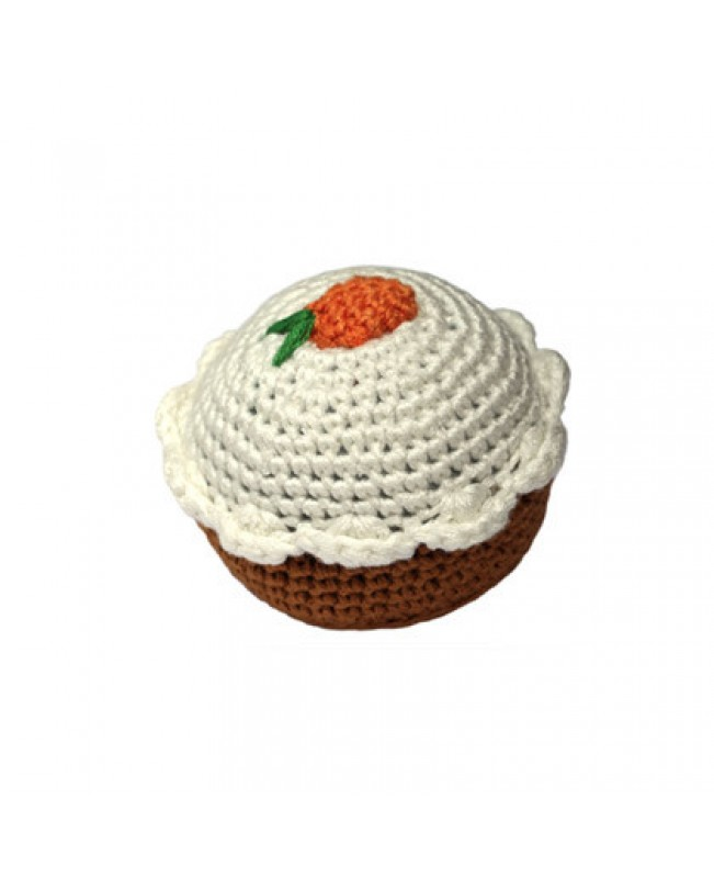 Carrot Cupcake Rattle