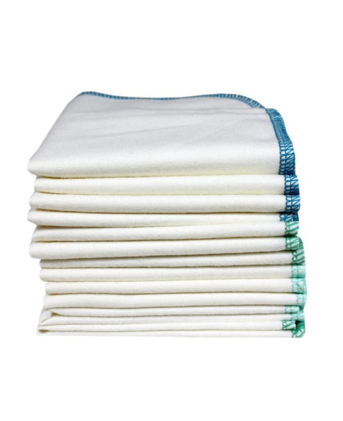 Washable Wipes, Organic Flannelette 12-Pack - Ocea...